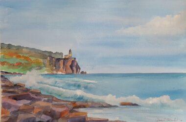 Split Rock Lighthouse, Watercolor